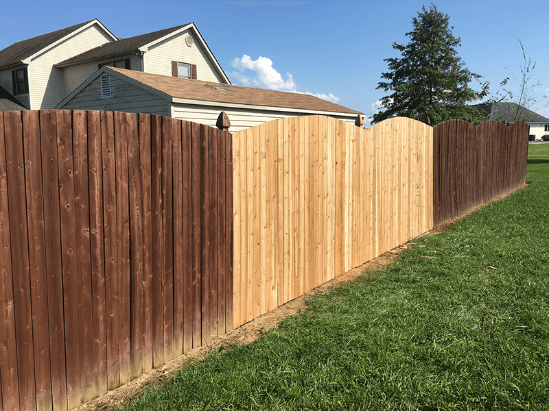 A wood repair to match existing fence.