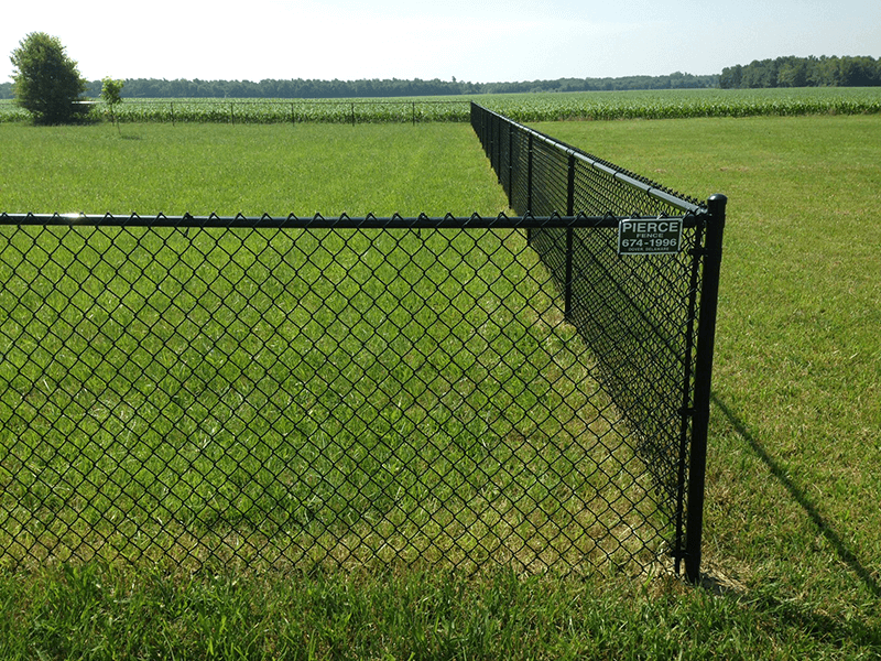4' All Black Chain link System installed in Dover, De.